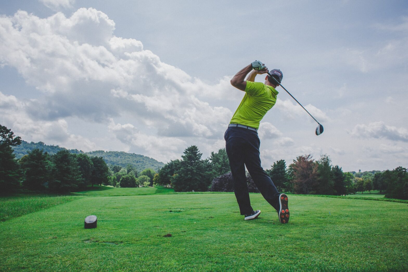 golf tee shot drive
