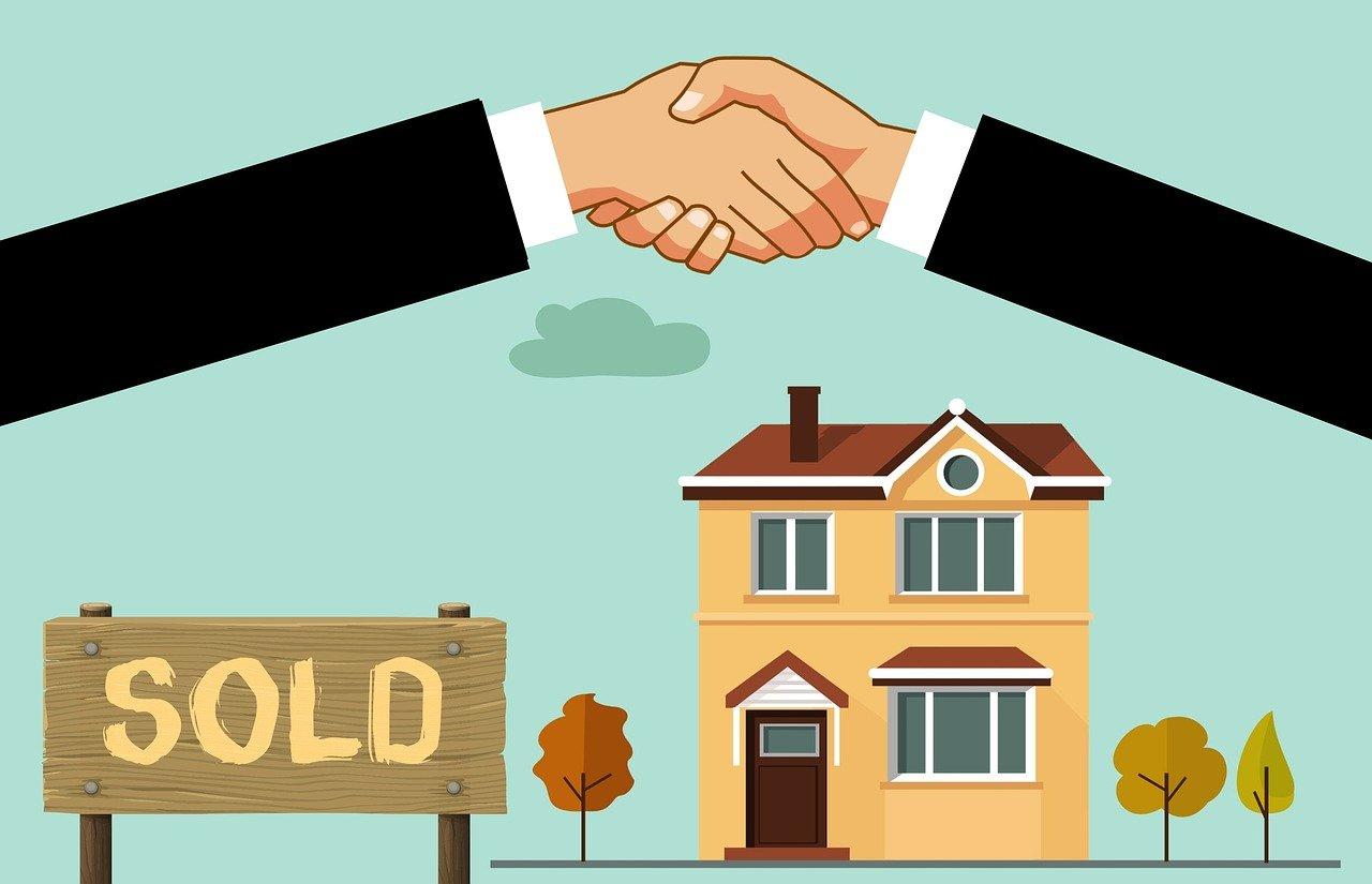 house sold deal cartoon